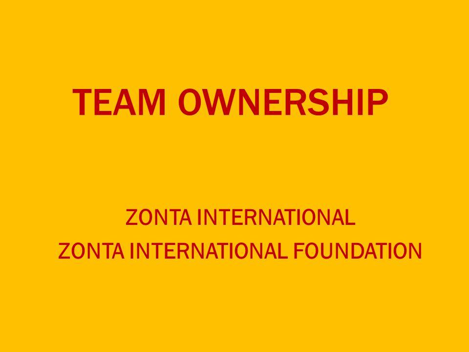 TEAM OWNERSHIP ZONTA INTERNATIONAL ZONTA INTERNATIONAL FOUNDATION