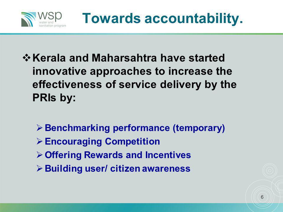 6 Towards accountability.