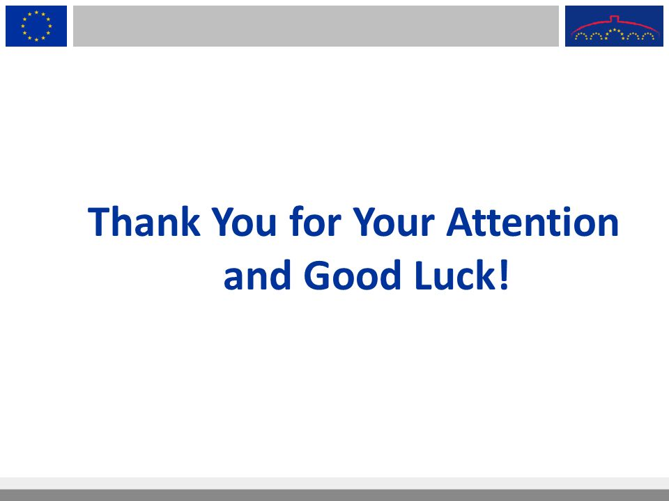 Thank You for Your Attention and Good Luck!