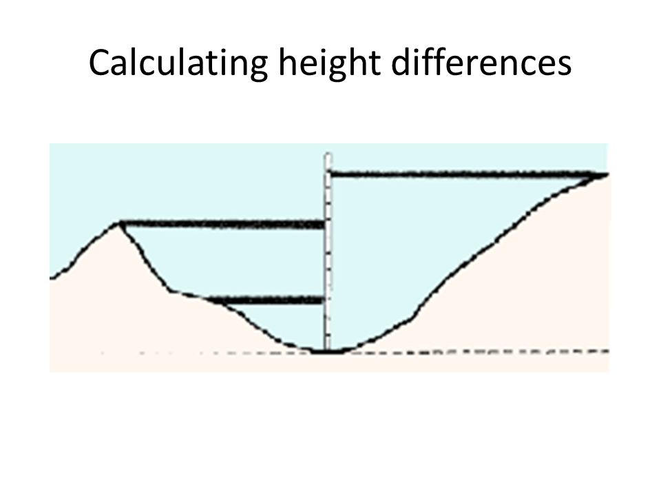 Calculating height differences