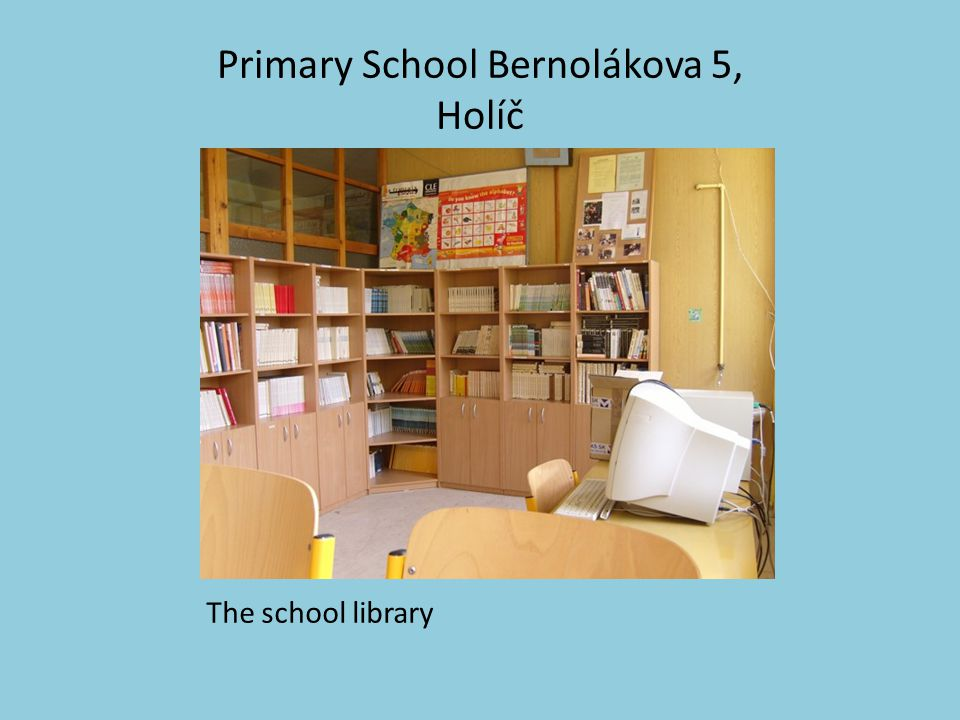 Primary School Bernolákova 5, Holíč The school library