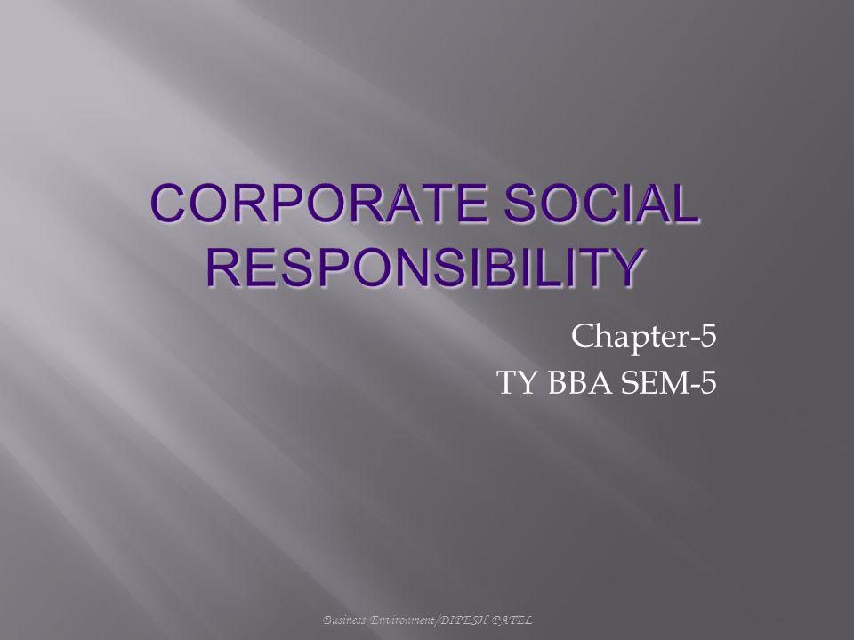Business Environment/DIPESH PATEL Chapter-5 TY BBA SEM-5