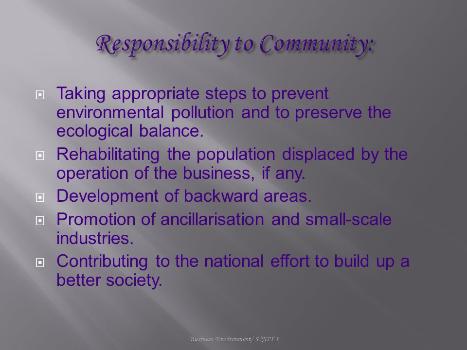  Taking appropriate steps to prevent environmental pollution and to preserve the ecological balance.