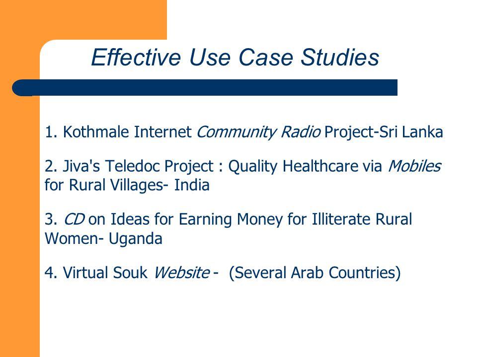 1. Kothmale Internet Community Radio Project-Sri Lanka 2.
