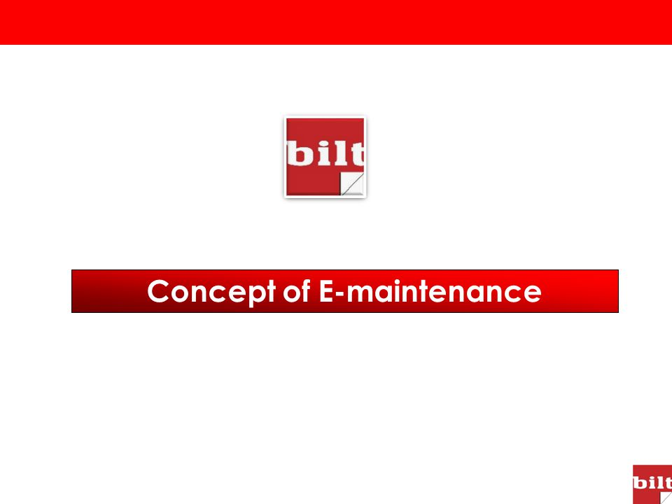 Concept of E-maintenance