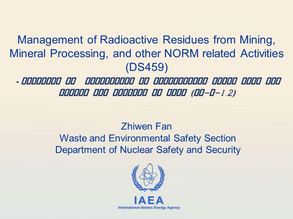IAEA 12 Key schedules