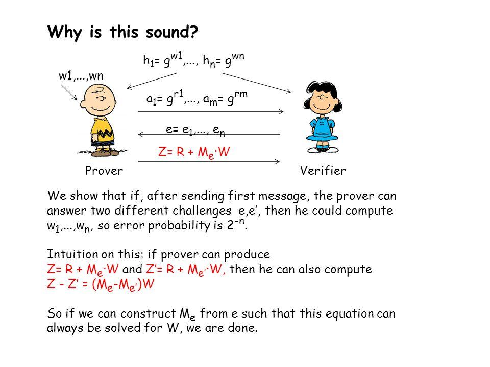 Construction of M e from e Write e as an n-bit column vector Form the matrix..
