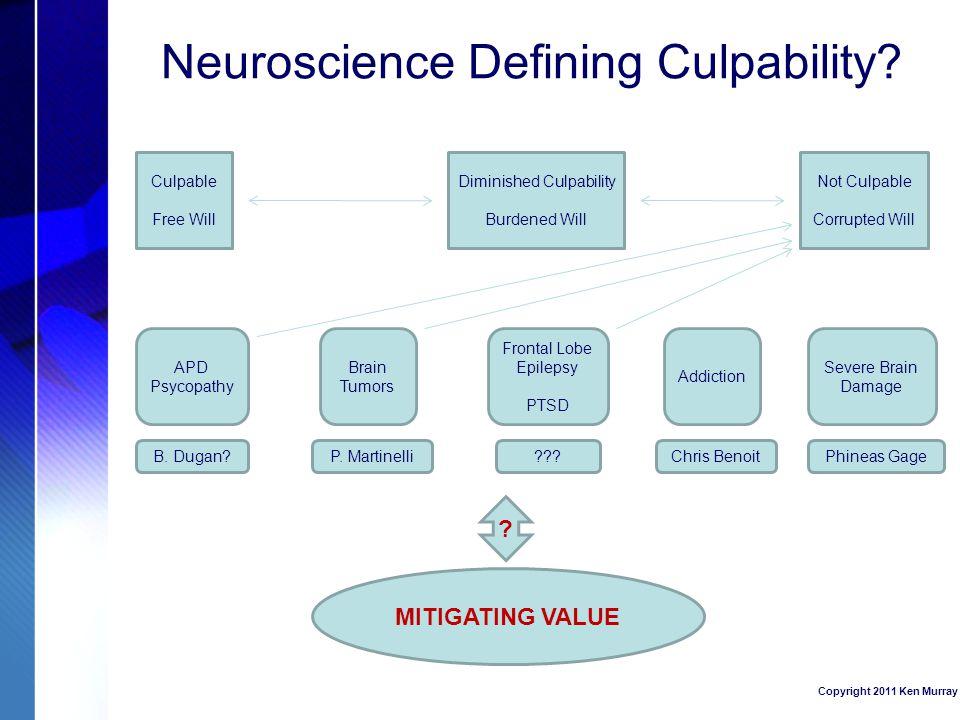 Neuroscience Defining Culpability.