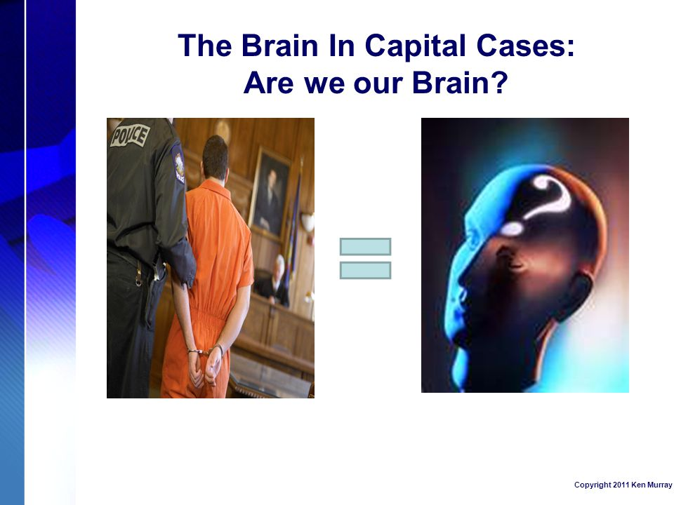 The Brain In Capital Cases: Are we our Brain Copyright 2011 Ken Murray