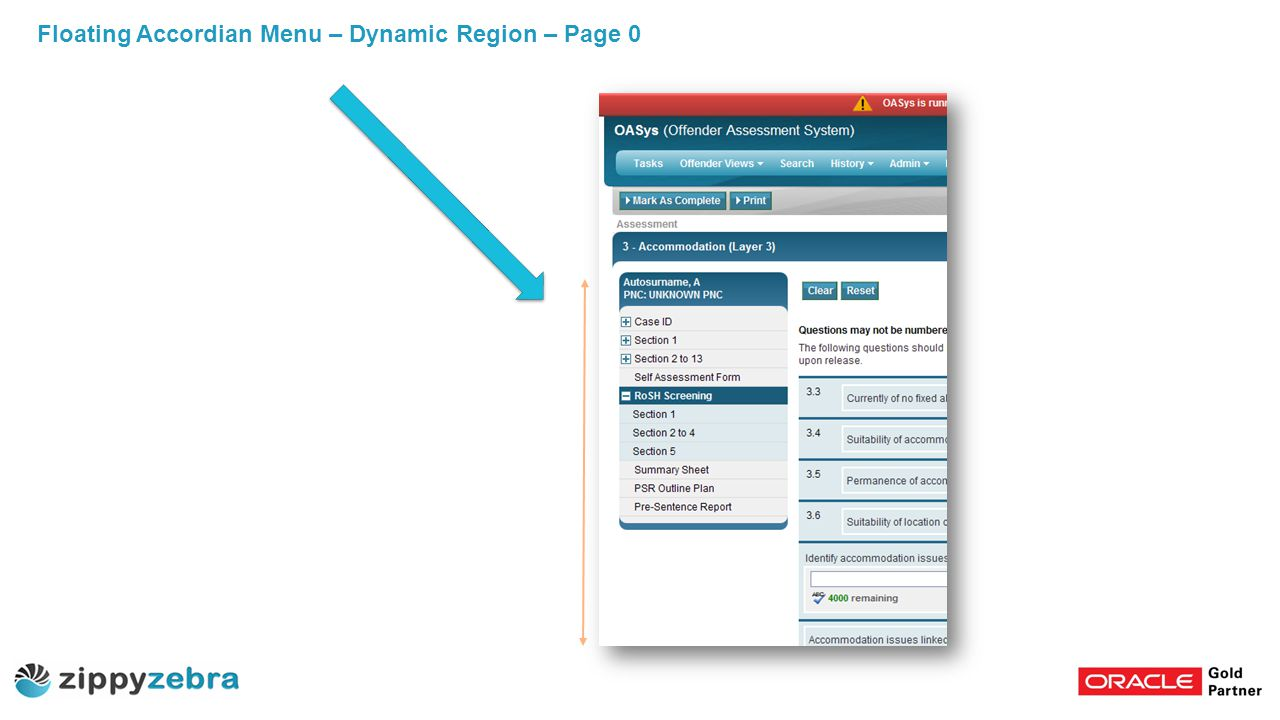Floating Accordian Menu – Dynamic Region – Page 0
