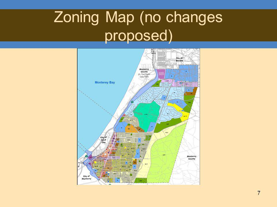 7 Zoning Map (no changes proposed)