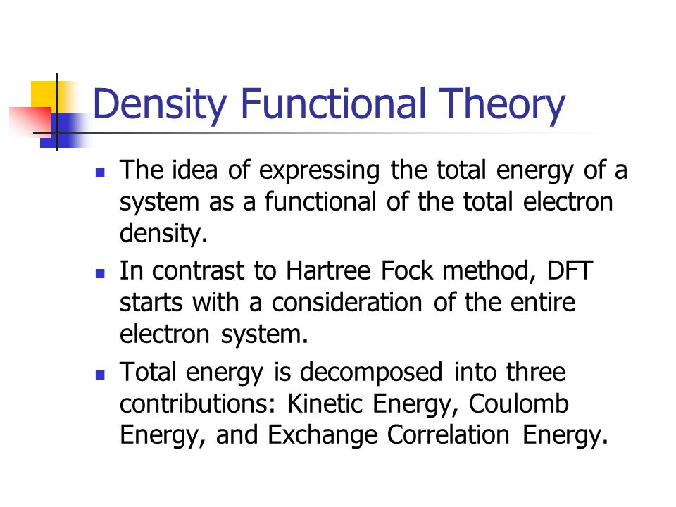 Density Functional Theory vs.