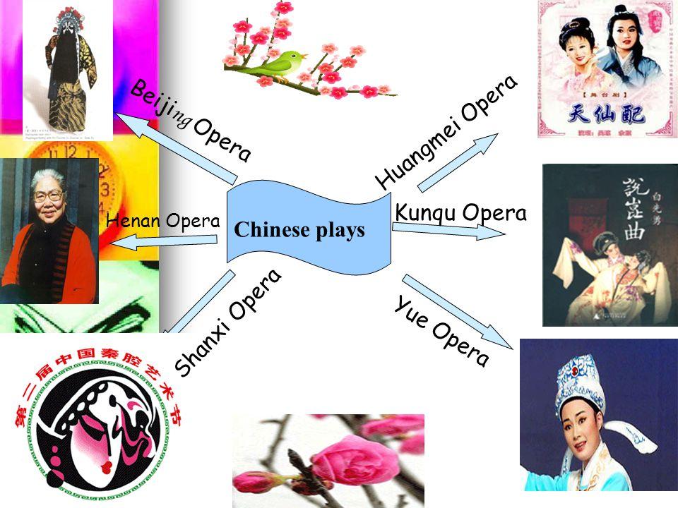 Chinese plays Beiji ng Opera Henan Opera Shanxi Opera Yue Opera Kunqu Opera Huangmei Opera