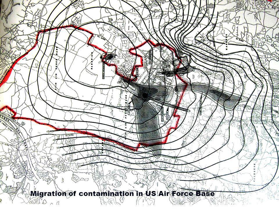 Migration of contamination in US Air Force Base
