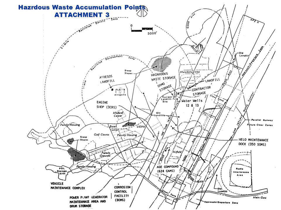 Hazrdous Waste Accumulation Points ATTACHMENT 3