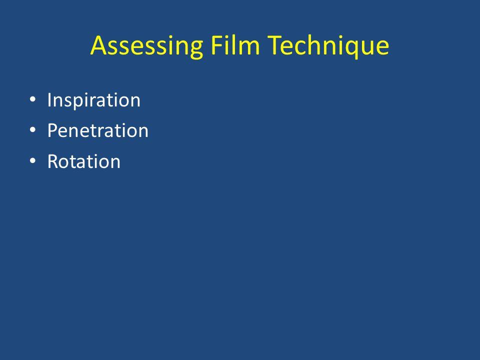 Assessing Film Technique Inspiration Penetration Rotation