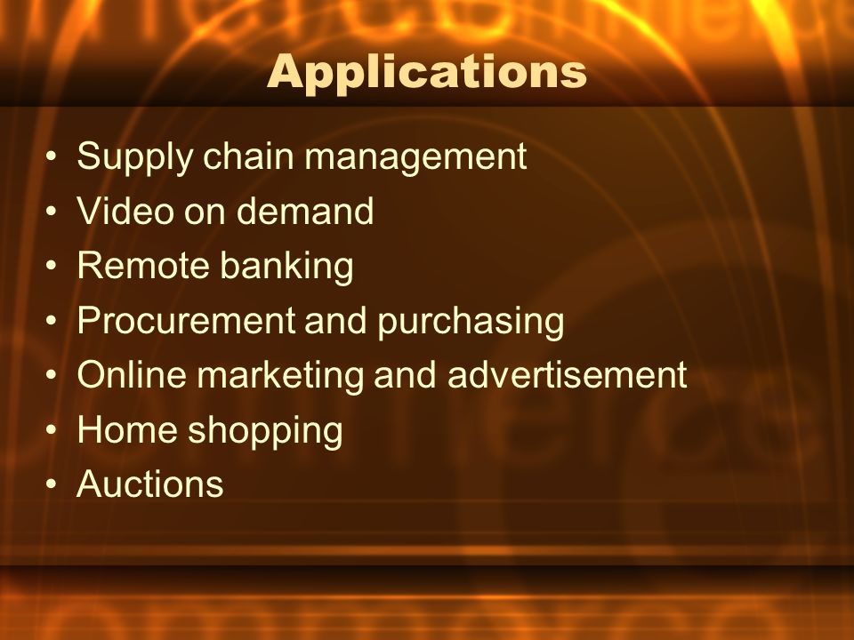 Importance of E-Commerce Decrease in cost of ordering and supply Better contact between customer and supplier Exploration of new markets (rural customers can buy global products) Easy to use and customer friendly