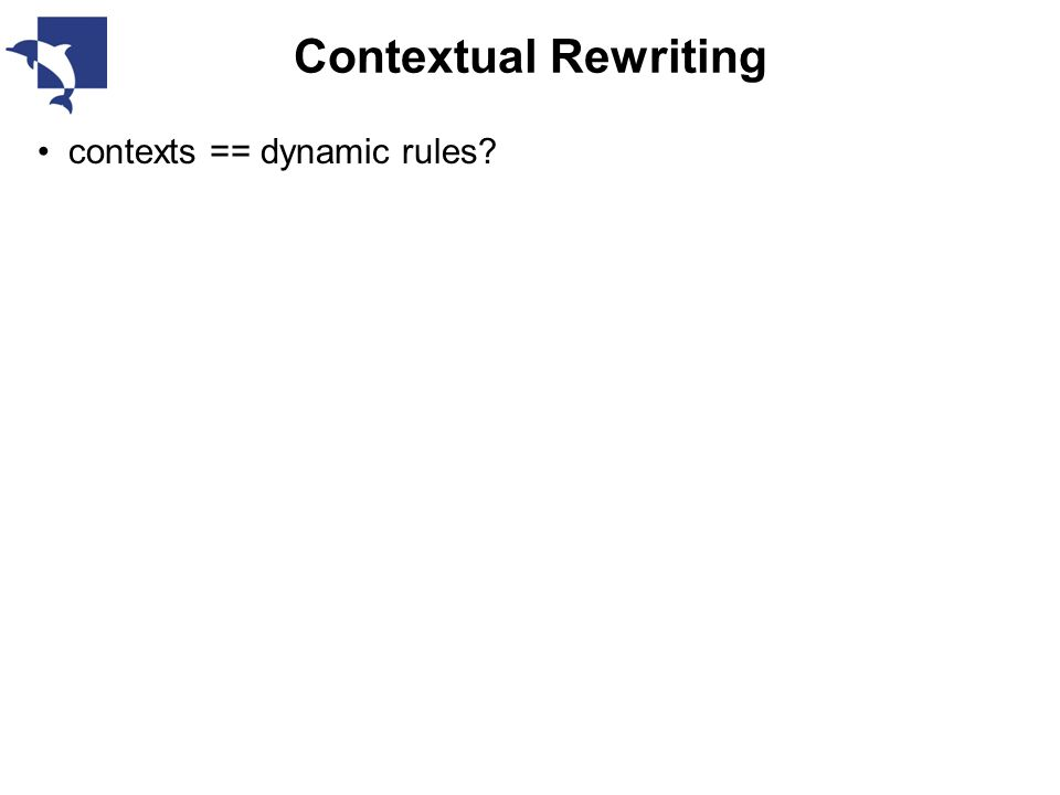 Contextual Rewriting contexts == dynamic rules