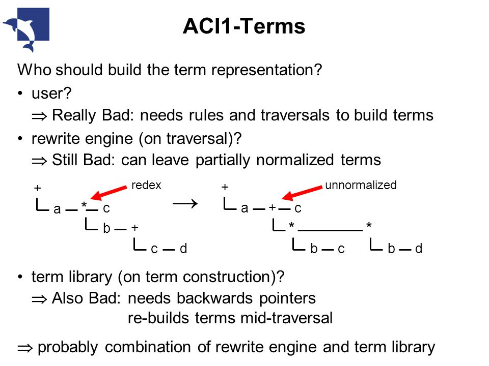 ACI1-Terms Who should build the term representation.