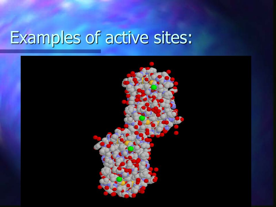 Enzymes working continued… Surface of each enzyme is a region called the active site. The active site fits the shape of the substrate the enzyme works