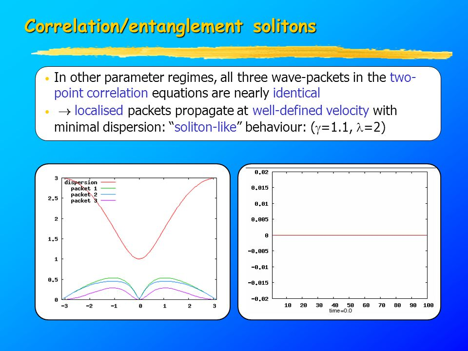 In other parameter regimes, all three wave-packets in the two- point correlation equations are nearly identical .