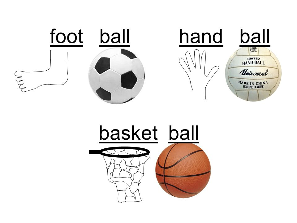 foot ball hand ball basket ball
