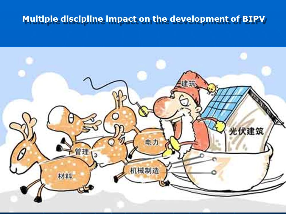 Multiple discipline impact on the development of BIPV