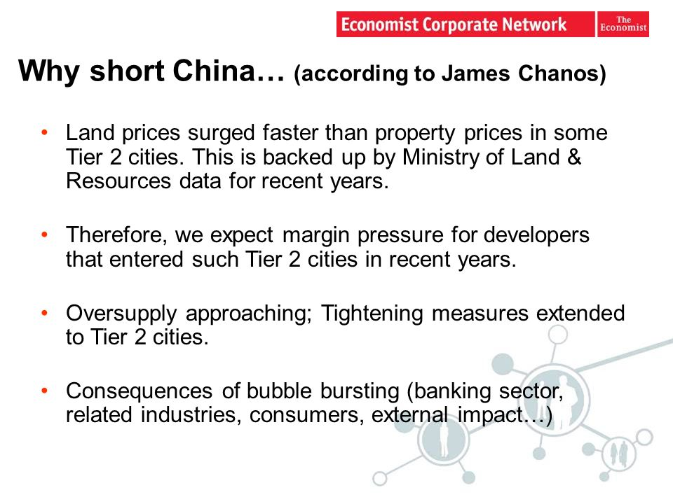 Why short China… (according to James Chanos) Land prices surged faster than property prices in some Tier 2 cities.