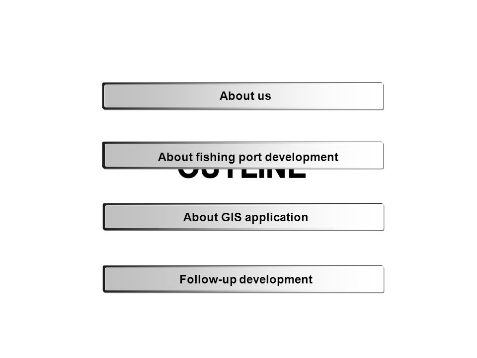 About us About fishing port development About GIS applicationFollow-up development