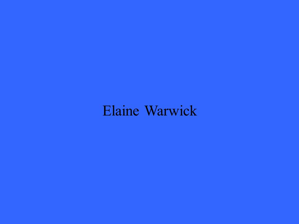 Elaine Warwick