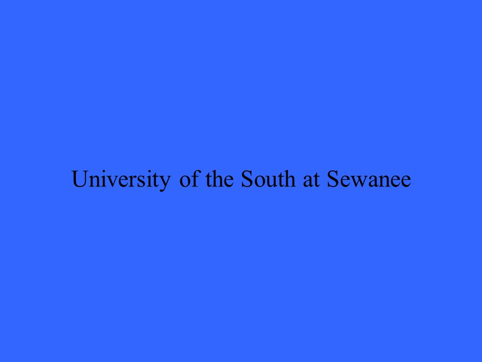 University of the South at Sewanee