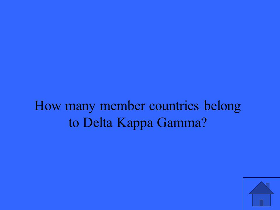 How many member countries belong to Delta Kappa Gamma