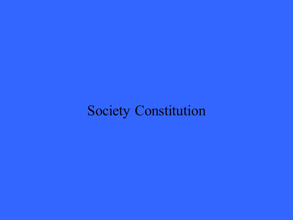 Society Constitution