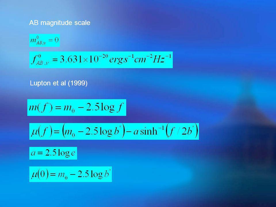 Lupton et al (1999) AB magnitude scale
