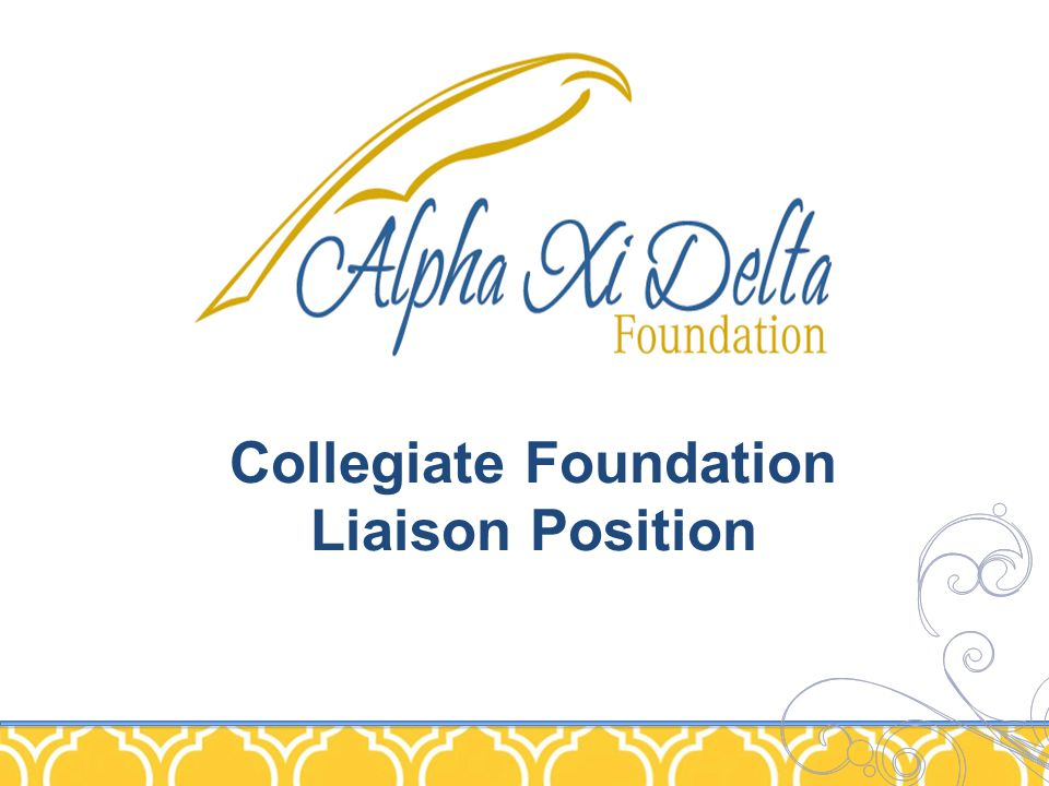 Collegiate Foundation Liaison Position