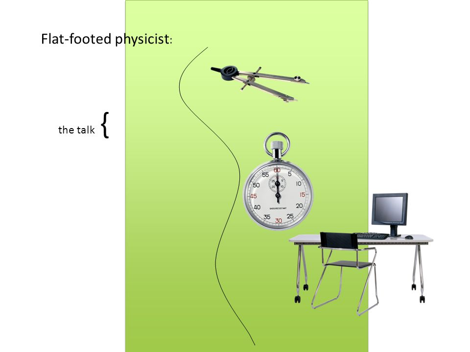 the talk { Flat-footed physicist :