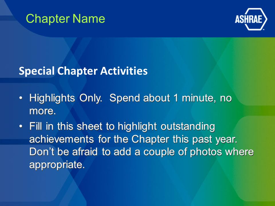 Chapter Name Highlights Only. Spend about 1 minute, no more.