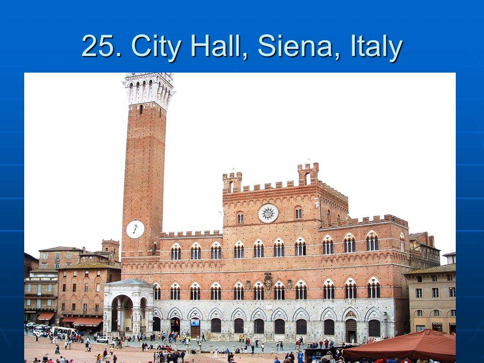 25. City Hall, Siena, Italy