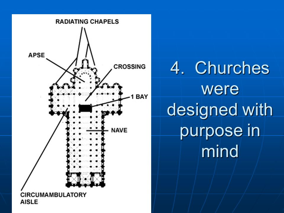 4. Churches were designed with purpose in mind