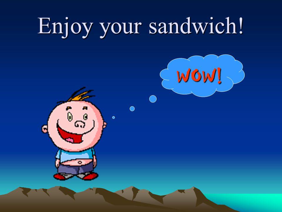 Enjoy your sandwich! WOW!