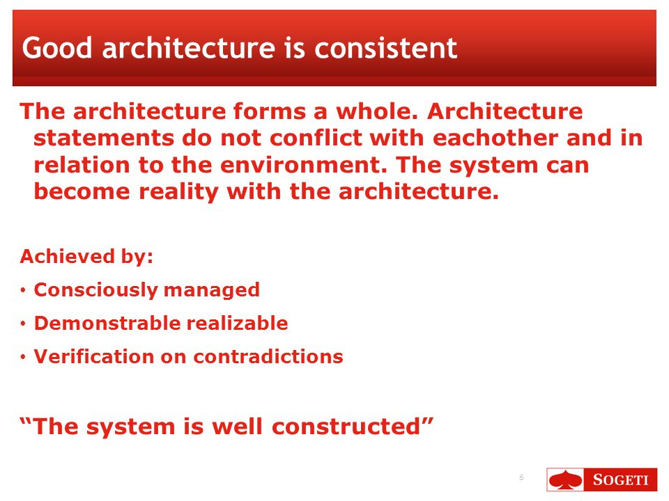27 Convey the architecture Select viewpoints Plan the communication Embed the architecture in the realization − Publish the top-level concerns Support mgt decision.