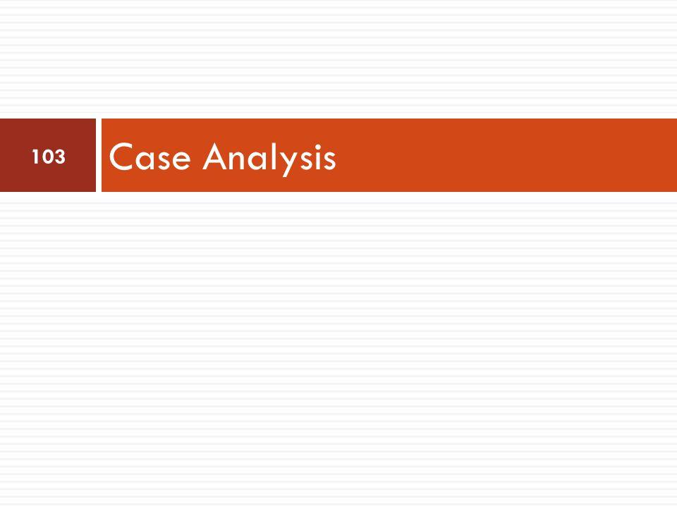 Case Analysis 103
