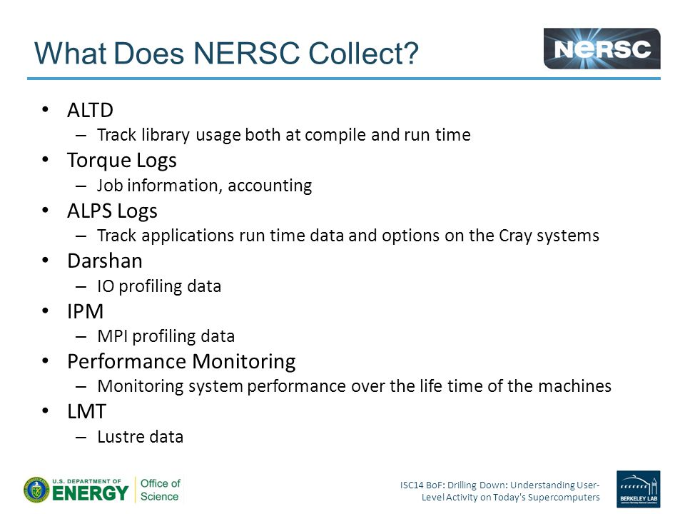 What Does NERSC Collect.