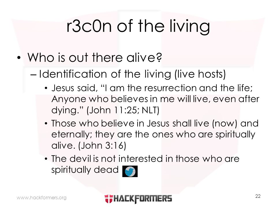 r3c0n of the living Who is out there alive.