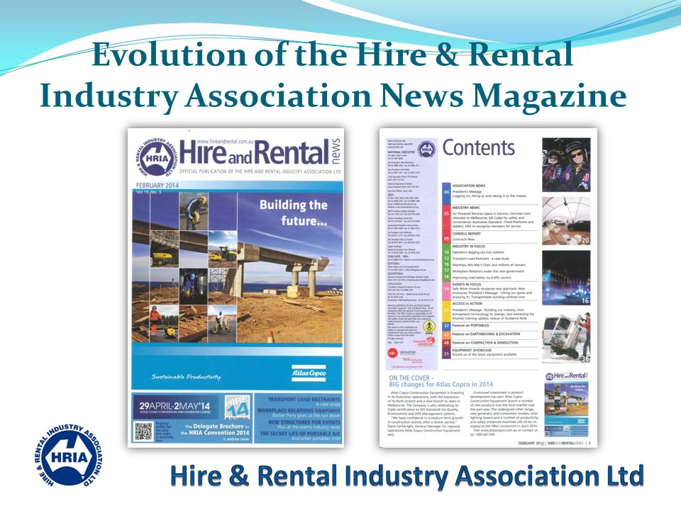 Evolution of the Hire & Rental Industry Association News Magazine