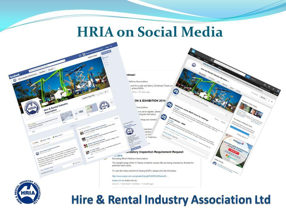 HRIA on Social Media