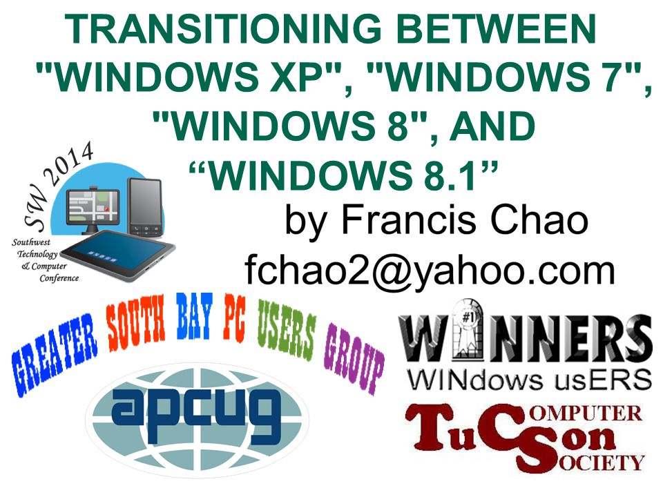 1 TRANSITIONING BETWEEN WINDOWS XP , WINDOWS 7 , WINDOWS 8 , AND WINDOWS 8.1