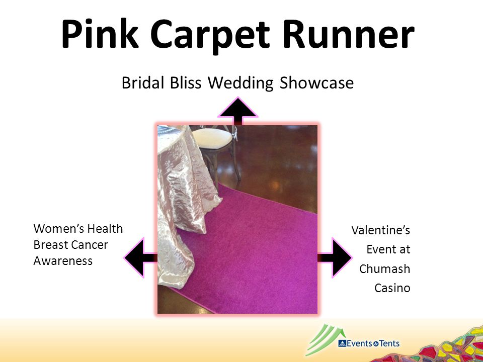 Valentine's Event at Chumash Casino Pink Carpet Runner Bridal Bliss Wedding Showcase Women's Health Breast Cancer Awareness