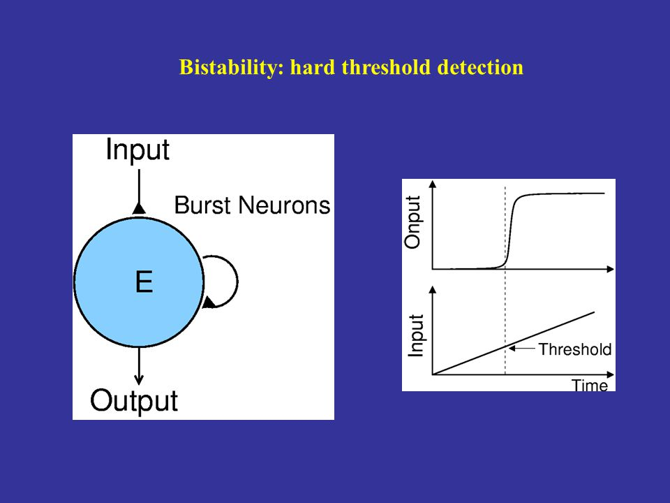 Bistability: hard threshold detection