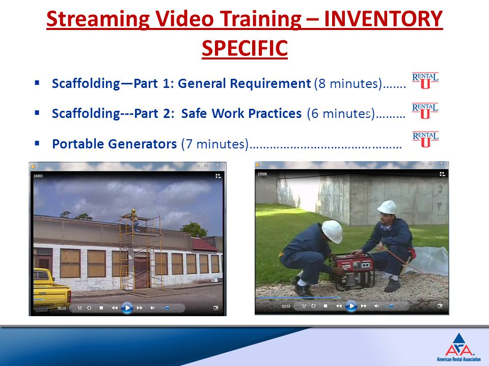  Scaffolding—Part 1: General Requirement (8 minutes)…….